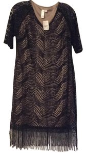 Emma & Michele short dress Black/dark beige on Tradesy