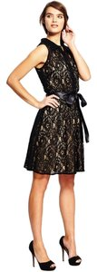 Emma & Michele Sleeveless Collared Lace Dress Dress