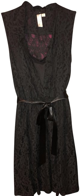 Preload https://img-static.tradesy.com/item/975050/emma-and-michele-blackcafe-sleeveless-collared-mid-length-cocktail-dress-size-10-m-0-2-650-650.jpg