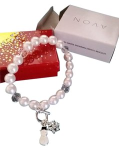 Avon Avon NEW whimsy winter snowman stretch bracelet