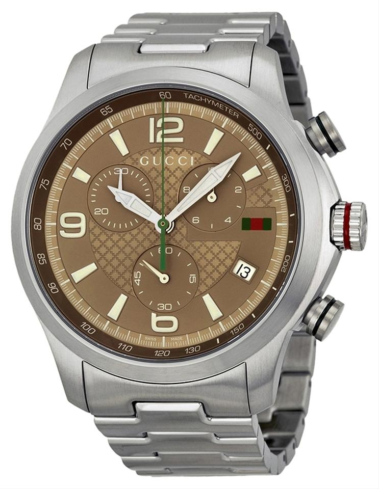 f0e53532449 Gucci Gucci G-Timeless Brown Dial Stainless Steel Mens Watch YA126248 Image  0 ...