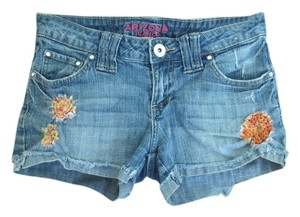 Arizona Jeans Company Crochet Cuffed Shorts Blue