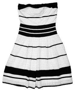 The Limited short dress Black & White Strapless Striped & Empire Waist on Tradesy