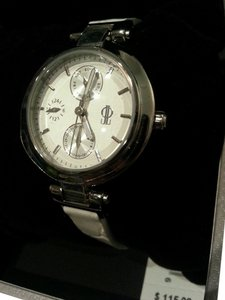 Jennifer Lopez Jennifer Lopez designer collection White Leather Watch with tags NEW IN BOX