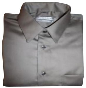 Geoffrey Beene Reg Fit Sz 16 1/2 Button Down Shirt STONE