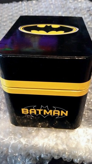 DC Comics BATMAN DC Black, Yellow and Silver Tone Emblem Watch NEW in collectible box Image 2