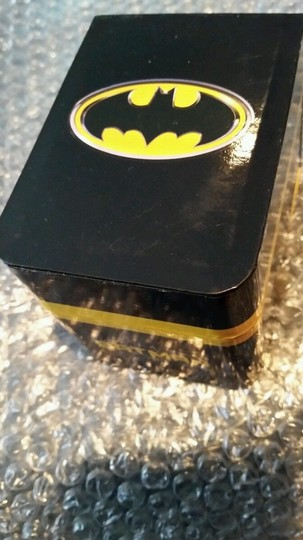 DC Comics BATMAN DC Black, Yellow and Silver Tone Emblem Watch NEW in collectible box Image 4