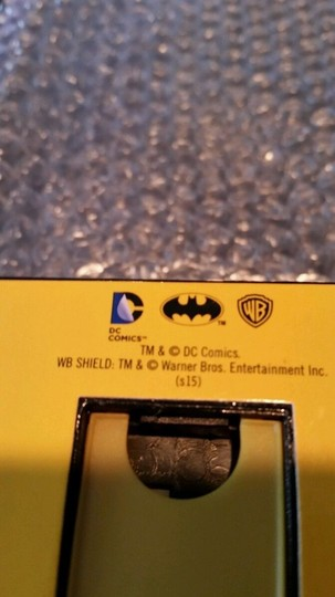 DC Comics BATMAN DC Black, Yellow and Silver Tone Emblem Watch NEW in collectible box Image 5