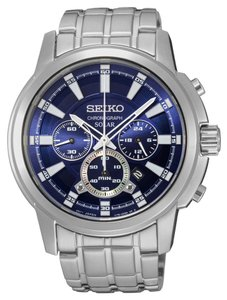 Seiko Seiko Men's Solar Chrono Silver Analog Watch SSC387
