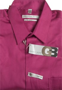 Geoffrey Beene Reg Fit Size 15 1/2 Button Down Shirt GRENADINE