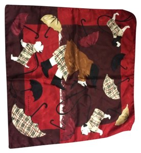 Burberry Burberry Umbrella Dog Motif Neck Scarf