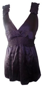 BCBGMAXAZRIA Silk V-neck Elegant Top Purple