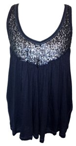 Aéropostale Sequin Top Navy Blue