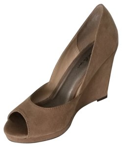 Michael Antonio Nude Suede Wedges