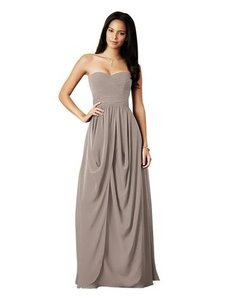 Alfred Angelo Stone Cross-draped Bodice Chiffon Bridesmaid Dress Style 7278l Dress
