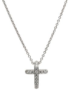 Honora Honora 18K White Gold Diamond Cross Slide Pendant & Leather Bracelet Set