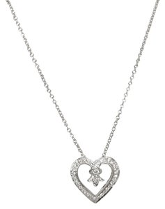 Honora Honora 18K White Gold Diamond Heart Slide Pendant & Leather Bracelet Set