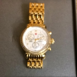 Michele Michelle Gold Stainless Steel Watch