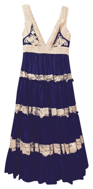 Item - Black and Tan Ruffle Mid-length Night Out Dress Size 2 (XS)