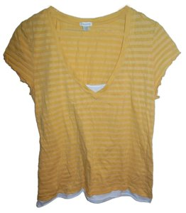 Maurices Stripes Striped T Shirt Yellow