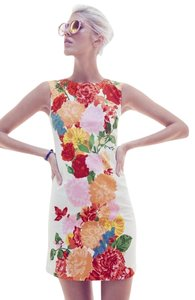 Plenty by Tracy Reese short dress Red Pink Yellow Sleeveless Floral Sheath on Tradesy