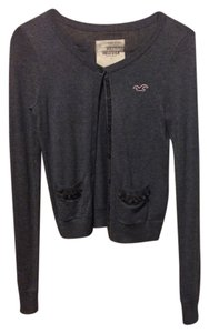 Hollister Cardigan Gray Winter Sweater