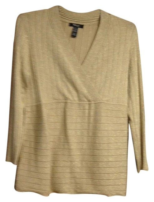 Style & Co Gold Like New Worn Once Sweater