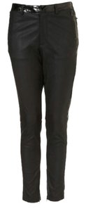 Topshop Patent Panel Trousers Trouser Pants Black
