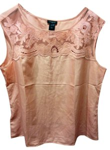 Ann Taylor Burnout Lace Top