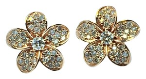 Style Gem Diamonds Diamond Pave Flower earrings in Rose Gold