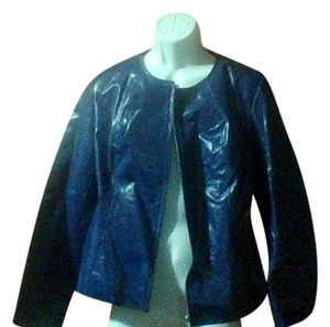 Newport News Blue Leather Jacket