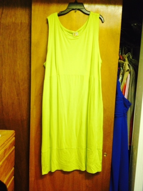 JM Collection short dress Comfort Lime Green Work on Tradesy
