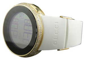 Gucci Mens I Gucci Grammy Gold Digital White Full Diamond Watch Ct Ya114216
