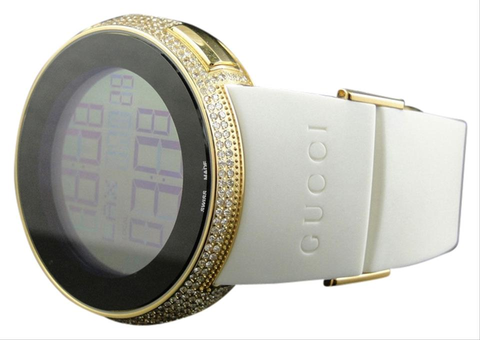 9176a0ec773 Gucci Mens I Gucci Grammy Gold Digital White Full Diamond Watch Ct Ya114216  Image 0 ...