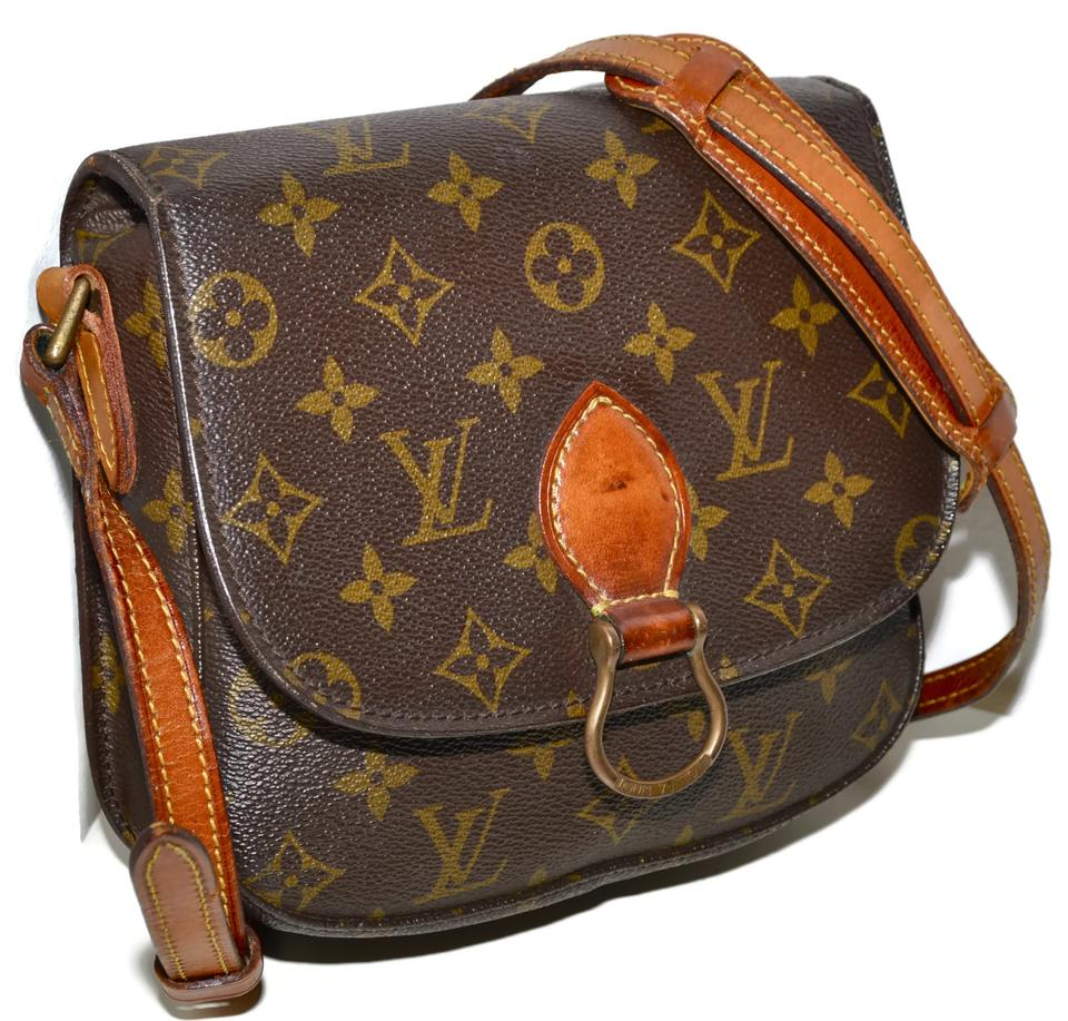 8bd206609ed6 Louis Vuitton Lv Monogram Handbag Purse Pocketbook Shoulder Shoulder Saddle  Saddle Saint Cloud Saint Cloud Mm. 12345678