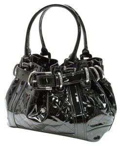Burberry London Tote in Black with Silver Hardware