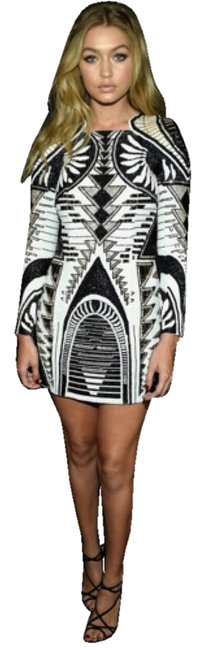 Item - Black and White Mini Night Out Dress Size 6 (S)