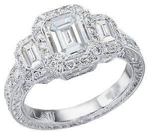 *Reduced* EMERALD CUT DIAMOND engagement ring custom made