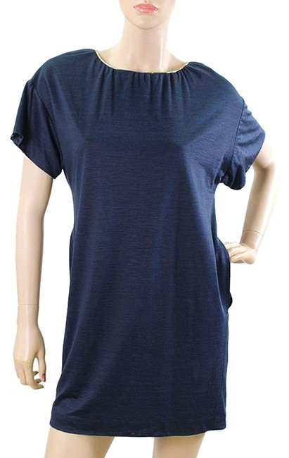 3.1 Phillip Lim short dress Navy Shift Tunic Silk Chain on Tradesy