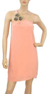 AKA New York Applique Silk One Shoulder Dress