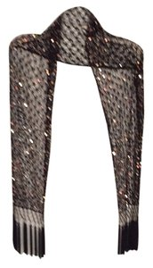 Chico's Sequin Mesh Fringed Scarf/wrap.