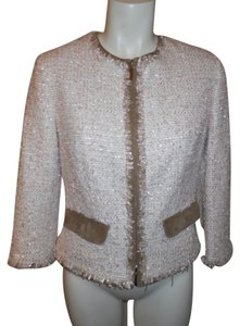 Les Copains Jacket white, brown, pink & gold metallic Blazer