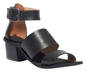 Madewell Leather Strappy Modern Comfy black Sandals