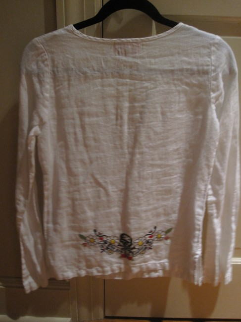 Juicy Couture Bathingsuit Coverup Coverup Embroidered Embroider Tunic Long-sleeve Longsleeve Top White