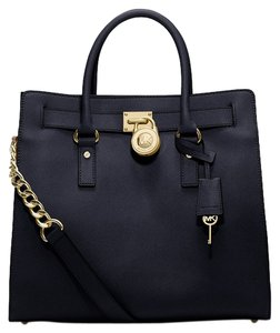 Michael Kors Saffiano Leather Tote in Black