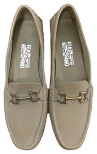 Salvatore Ferragamo Loafer Pale Khaki Flats
