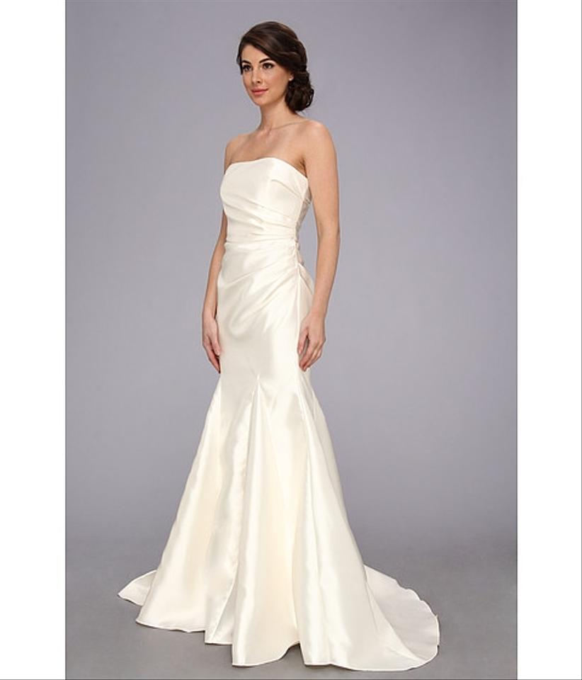 Badgley Mischka Satin Ivory Strapless Gown Badga30028 New With Tags ...