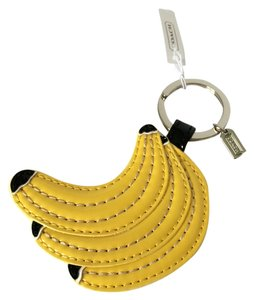 Coach Coach Leather Yellow Banana Bananas Keychain Keyfob