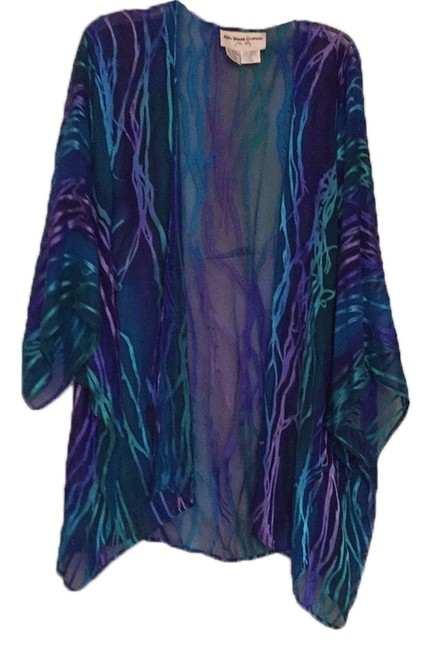 Item - Jewel Tones Silk Cover-up/Sarong Size OS (One Size)