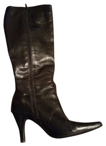 Kenneth Cole Reaction Leather High Black Boots